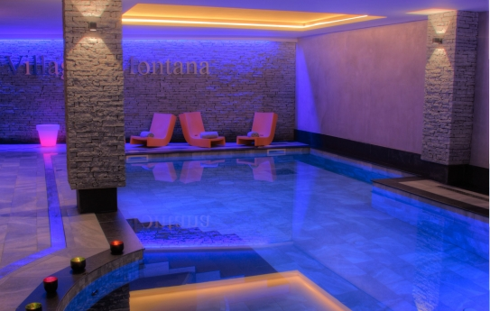 The stunning spa at the Residence Montana Plein Sud