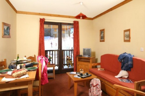 An example of a sitting area at Les Chalets du Thabor in Valfrejus