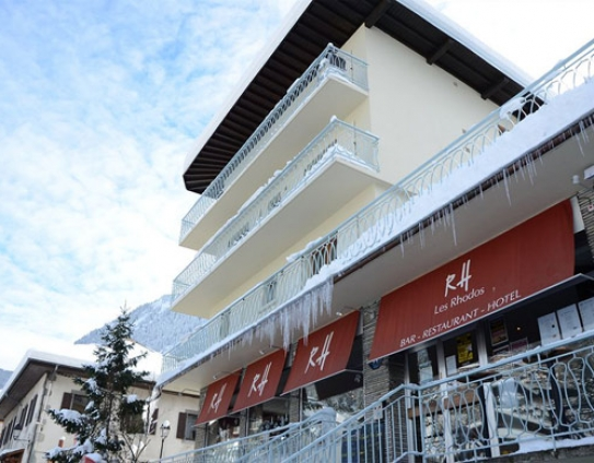 Front view of the Rhodos Hotel, Morzine.