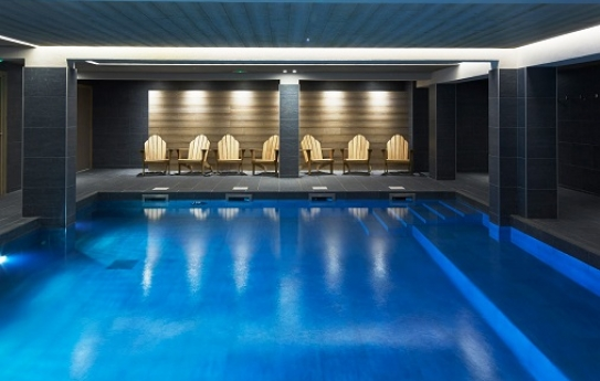 Pool and Spa at Le Fitz Roy Hotel, Val Thorens