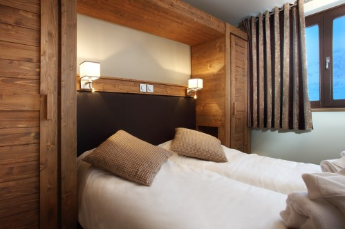 Twin room at Les Source des Arcs