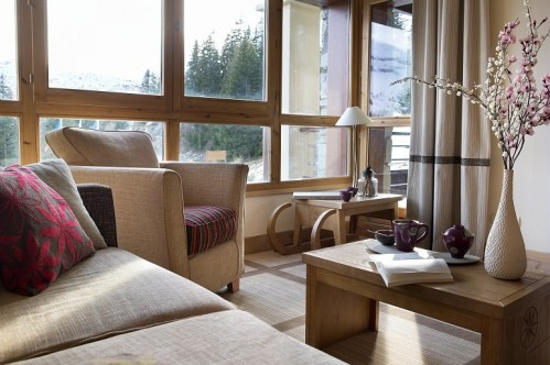 Dining and sitting room, Pierre & Vacances Premium Les Terrasses d'Eos, Flaine
