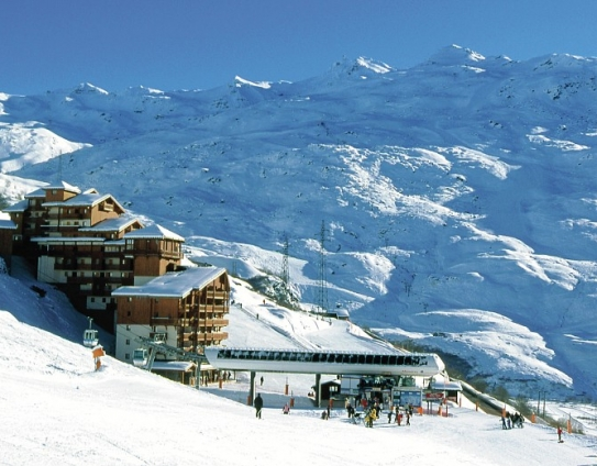 Bruyeres Ski Lift, slopes and Les Valmonts - Les Menuires