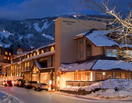 The Listel Hotel Whistler just off the Village Stroll and a short walk from the ski lifts.