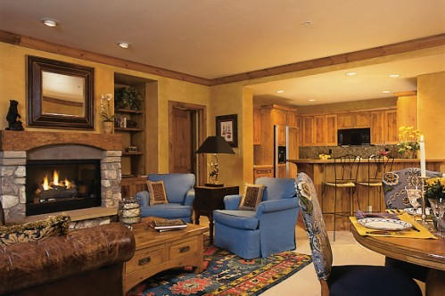 Example living room in 3 bedroom condo at Elkhorn Lodge - Beaver Creek