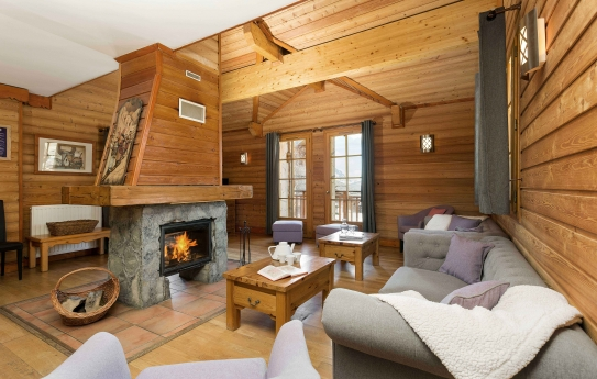Cozy log fire - Les Chalets de L'Altiport - Alpe d'Huez