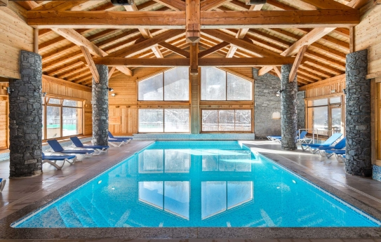 Swimming Pool at Hameau Du Rocher Blanc Serre Chevalier