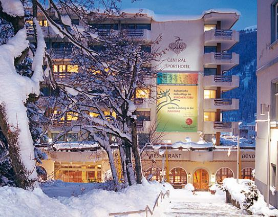 Outside View of the Central Sporthotel - Davos