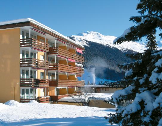The Exterior of the Hotel Cresta - Davos