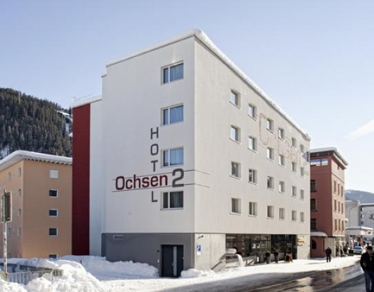 The Exterior of the Hotel Oschen 2 - Davos - Switzerland