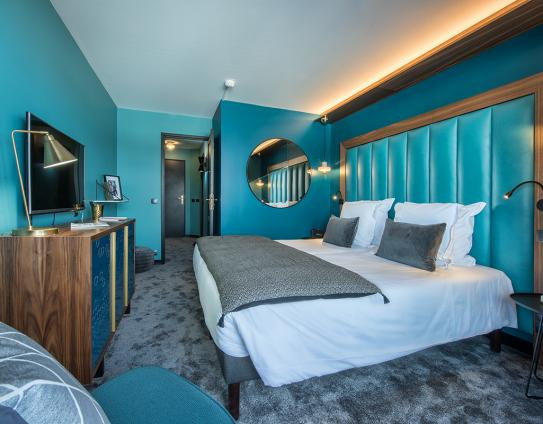Bedroom at Fahrenheit 7 Courchevel; Copyright: foudimages