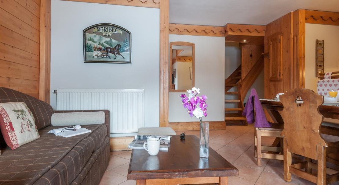 Apartment Lounge in Les Fermes de Meribel