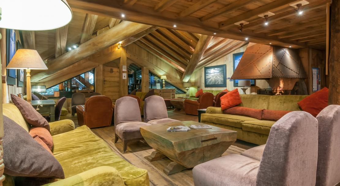 Communal Lounge at Les Fermes de Meribel