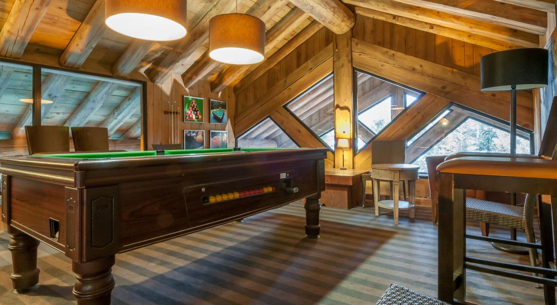 Pool Table at Les Fermes de Meribel