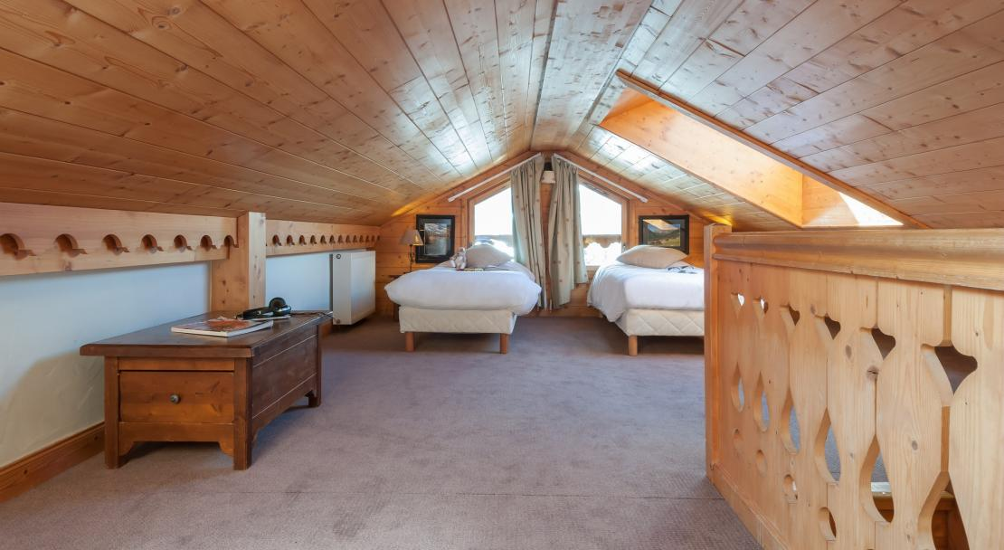 Twin Beds in Les Fermes de Meribel