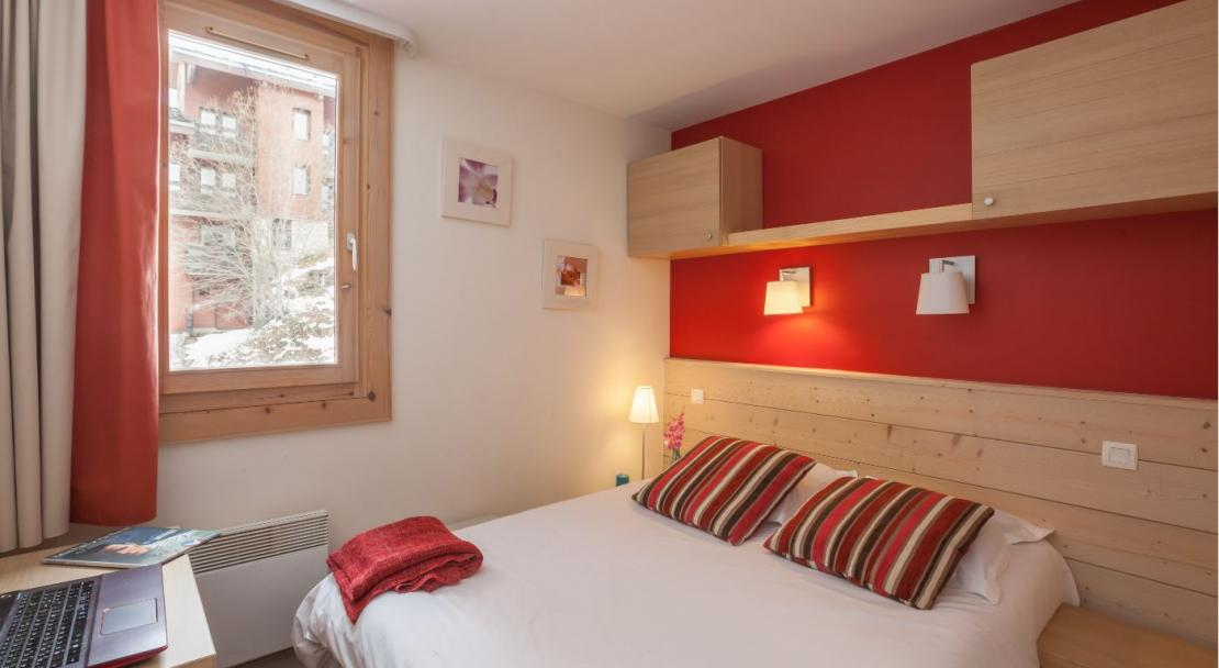 Double bed Plagne Lauze; Copyright: P&V