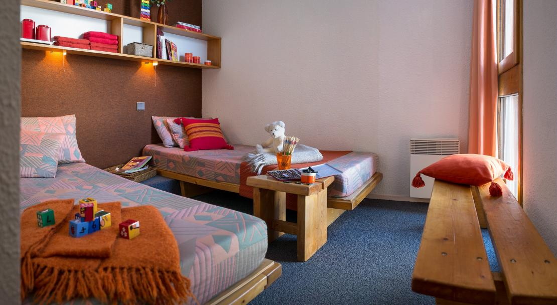 Twin room Bellecote La Plagne