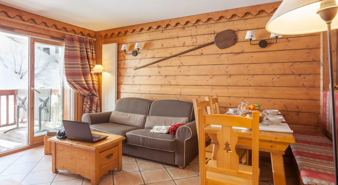 Living area in L'Ecrin des Neiges Tignes
