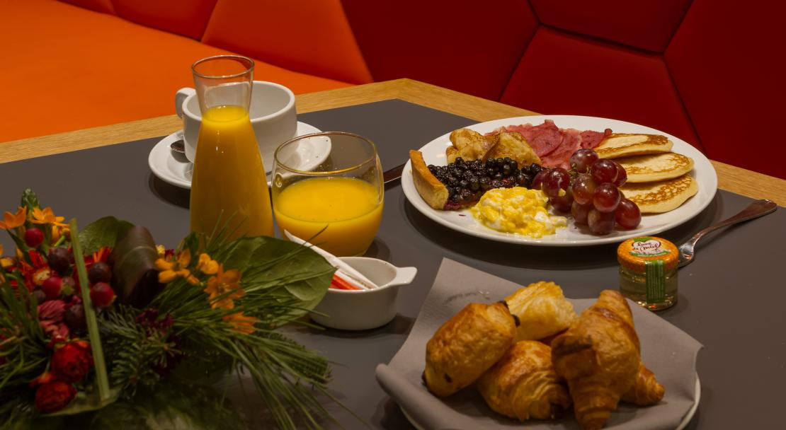 Breakfast at Hotel Royal Ours Blanc Alpe d'Huez