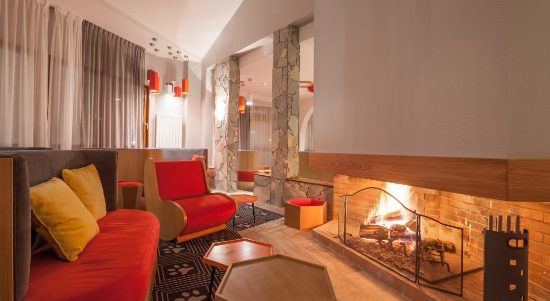 Fireplace at Hotel Royal Ours Blanc Alpe d'Huez