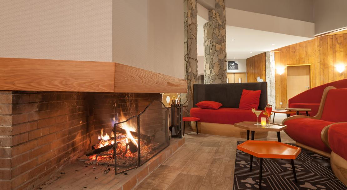 Relaxing lounge at Hotel Royal Ours Blanc Alpe d'Huez