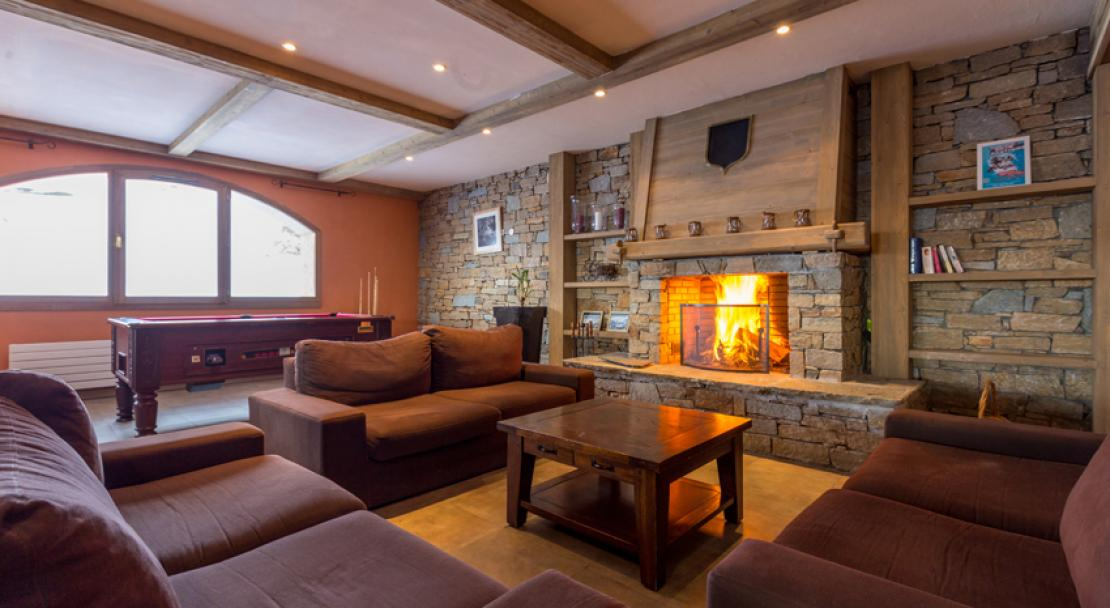 Lounge and Fire in Sun Valley La Plagne