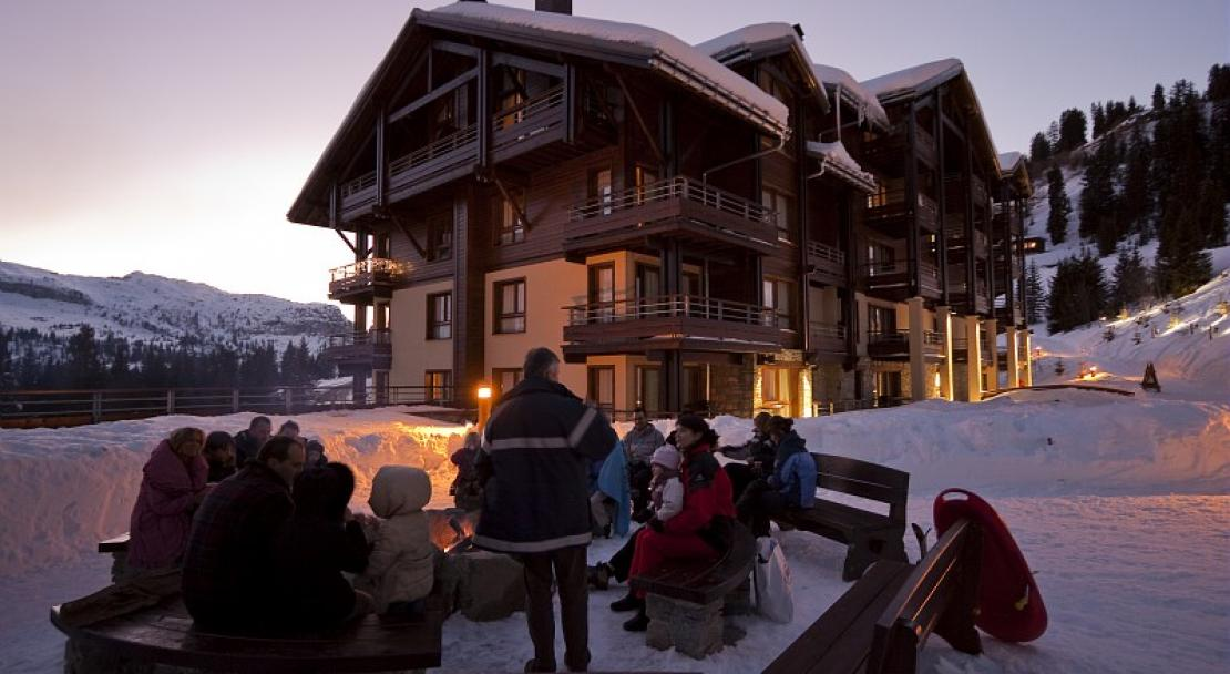 outside seating, Flaine, Pierre & Vacances Premium Les Terrasses d'Eos
