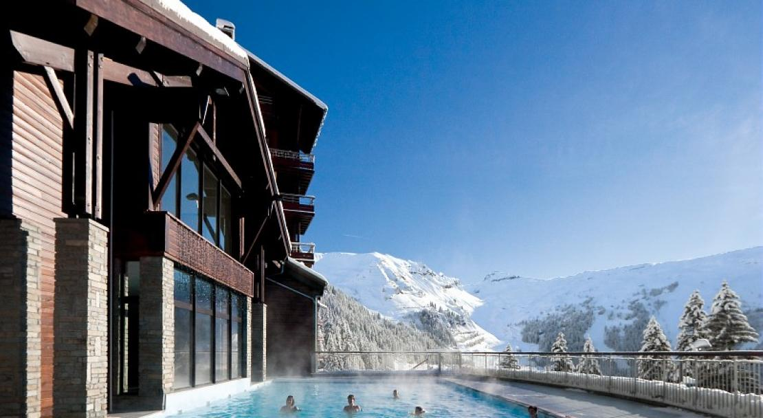outdoor heated pool, Flaine, Pierre & Vacances Premium Les Terrasses d'Eos