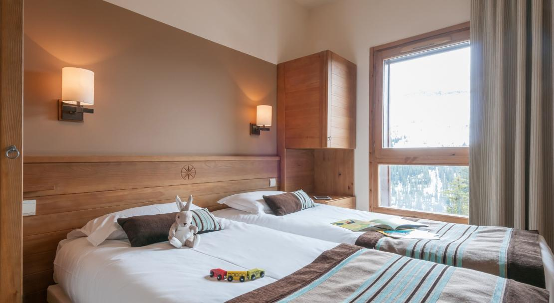 Twin Bedroom Les Terrasses D'Eos Flaine