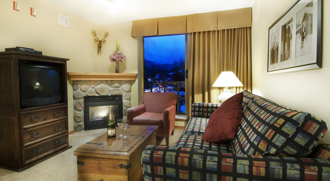 Example of a one bedroom apartment - Cascade Lodge - Whistler