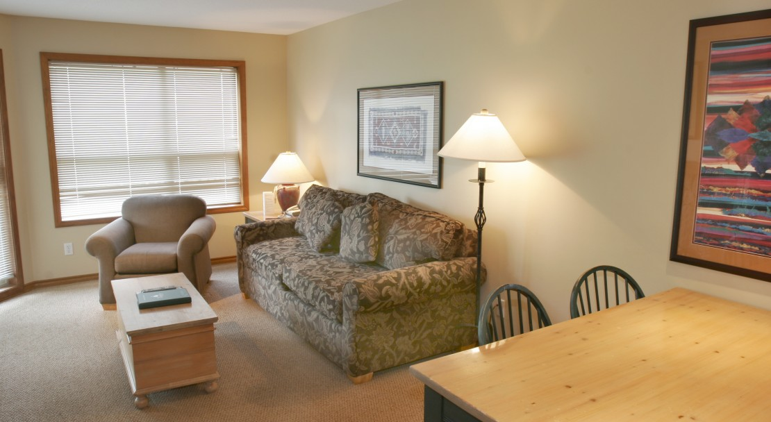 Spacious condo style suites at The Aspens on Blackcomb in Whistler
