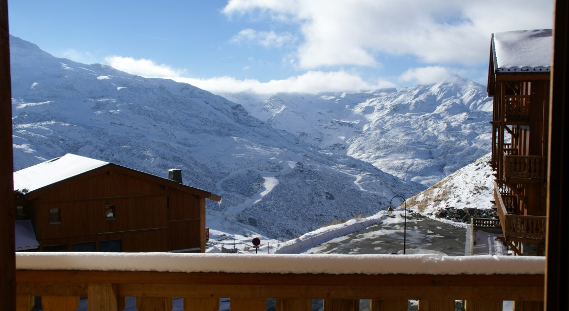 View from the balcony at Chalet Altitude Val Thorens