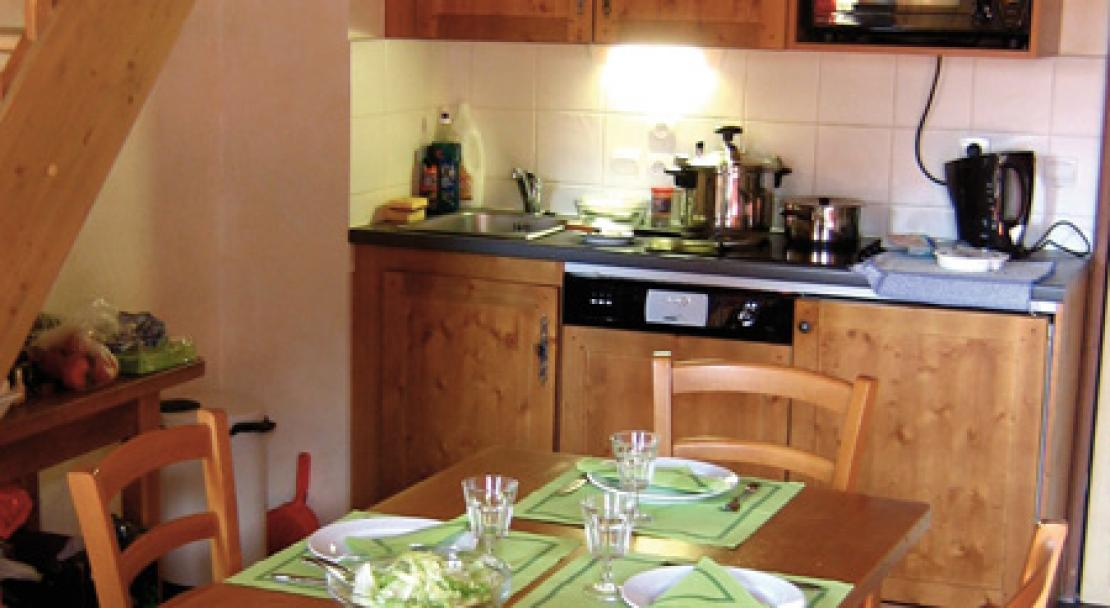 An example of a kitchen a Les Arolles