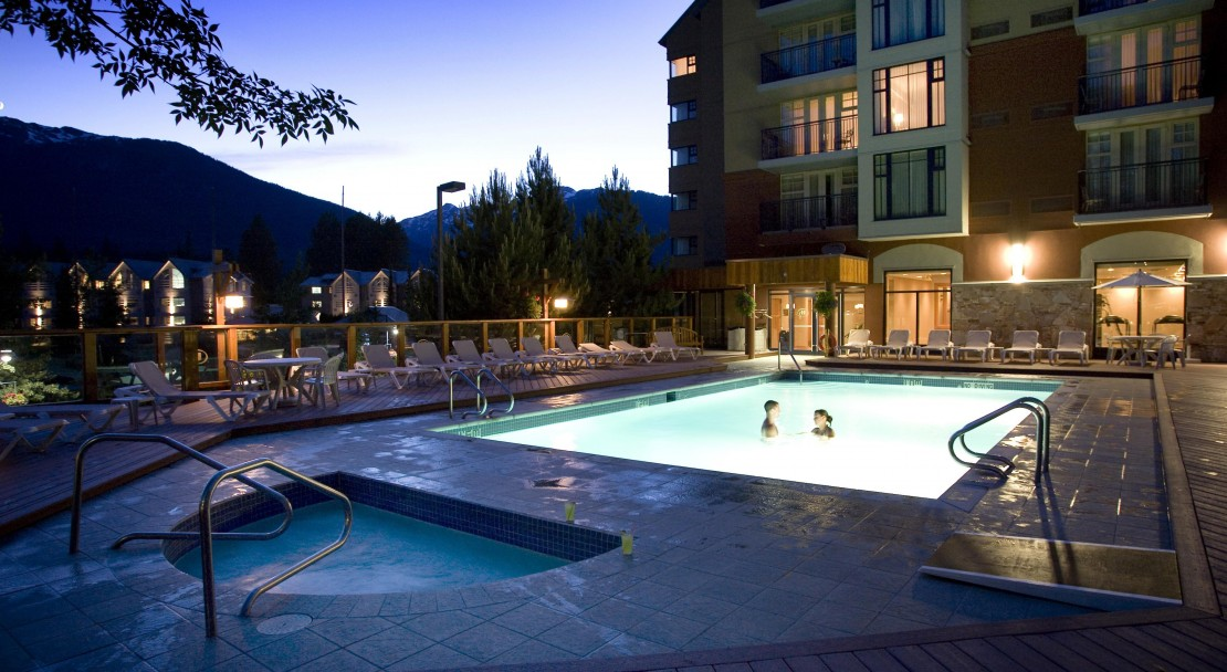Dive into the warmth of the Hilton Whistler Resort and Spa, Whistler, BC