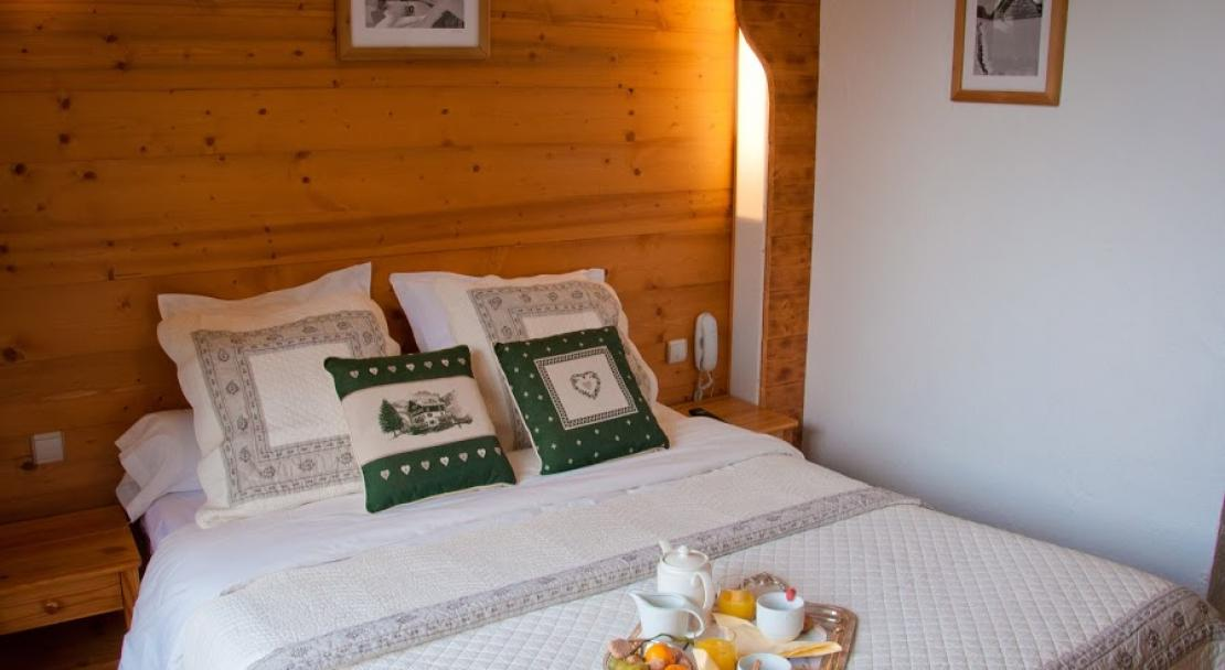 Double Bed in Hotel Les Ancolies Courchevel