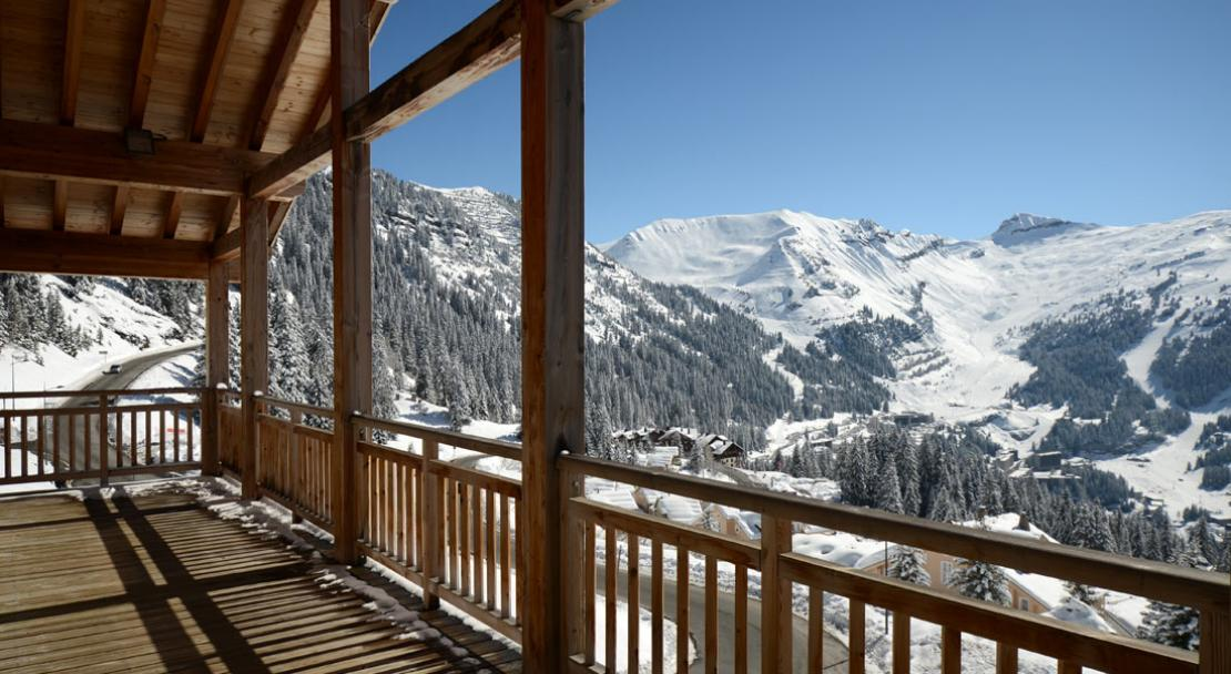 View from the terrace - Le Refuge Du Golf - Flaine