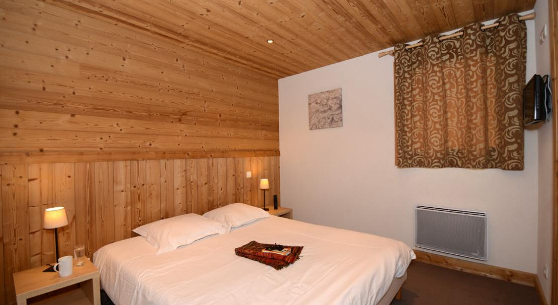 Double Bedroom -  Résidence Le Refuge du Golf - Flaine