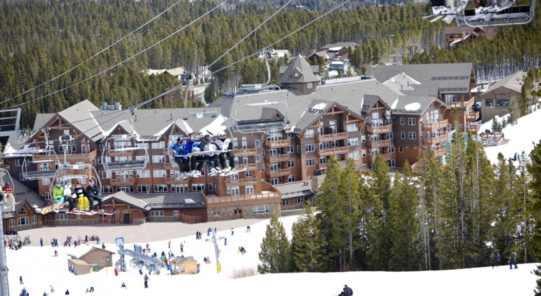One Ski Hill Place with the lifts in the background - Breckenridge - USA