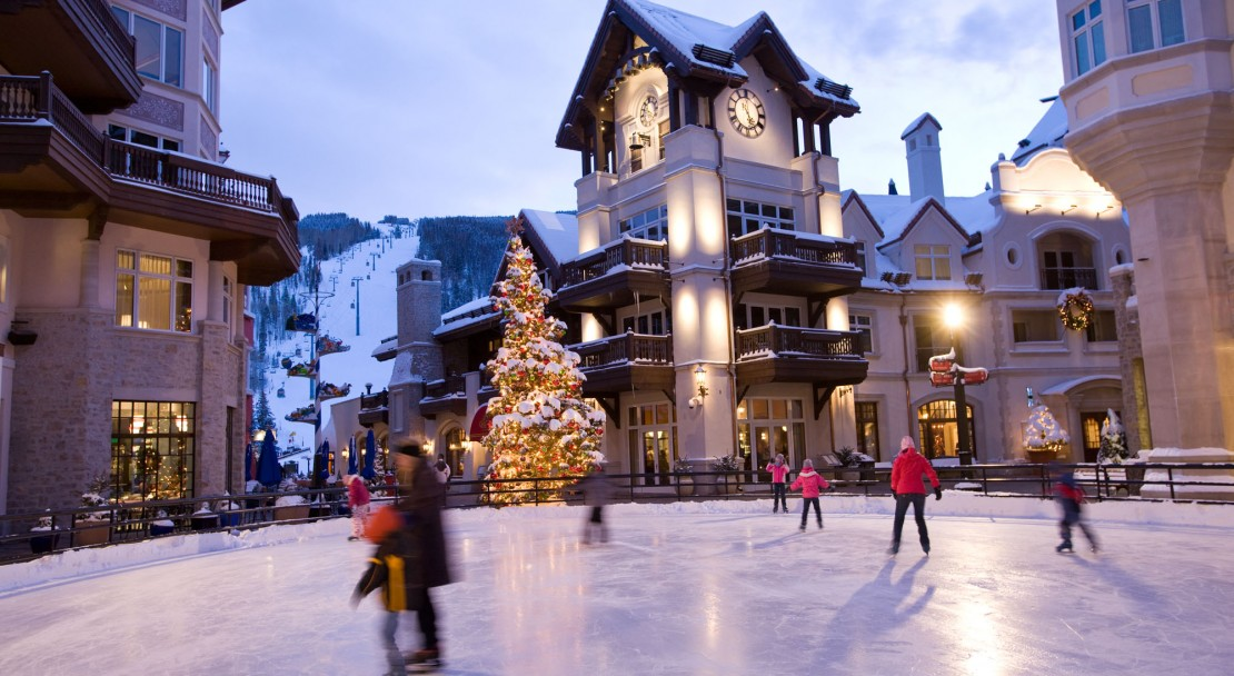 The Arrabelle has a great location next to the ice rink - Vail Ski Resort