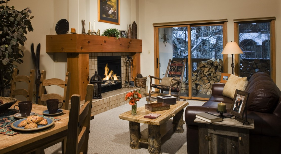 Relax in the comfort of spacious and homely condos with wood burning fireplaces