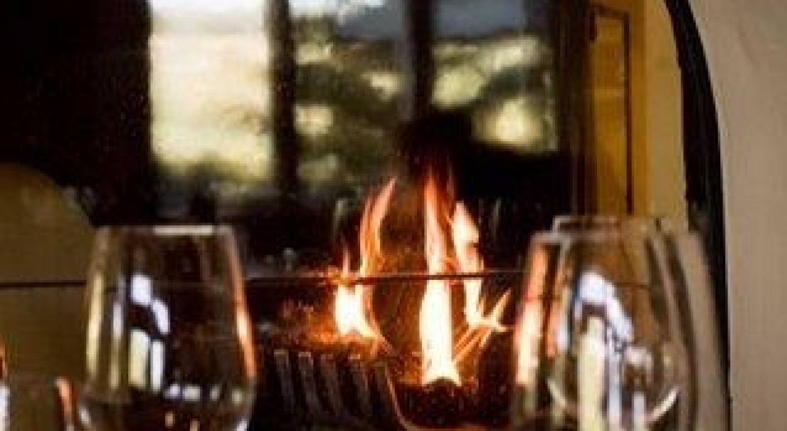 Wine by the fireplace - The Pines Lodge - Beaver Creek