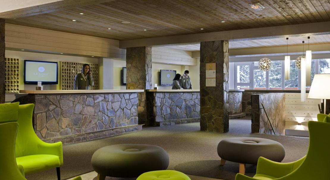 Hotel du Golf - Reception - Les Arcs ; Copyright: F RAMBERT