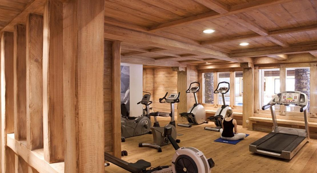 The gym area is extensive at Les Fermes du Soleil