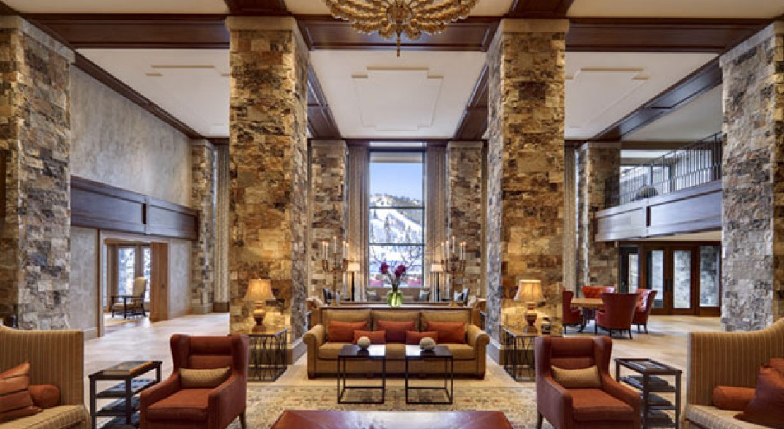 Lobby at St Regis Deer Valley
