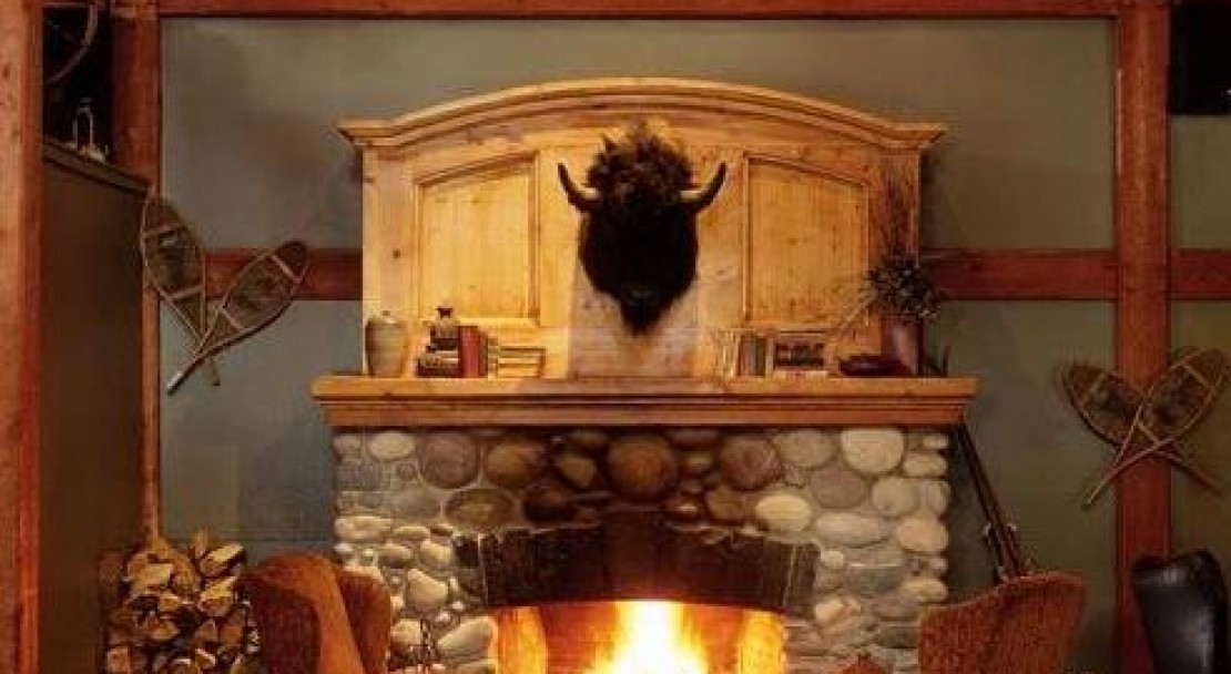 Dining by the cosy fire at Buffalo Mountain Lodge - Banff