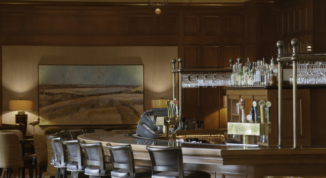 The bar at the Fairmont Chateau Whistler