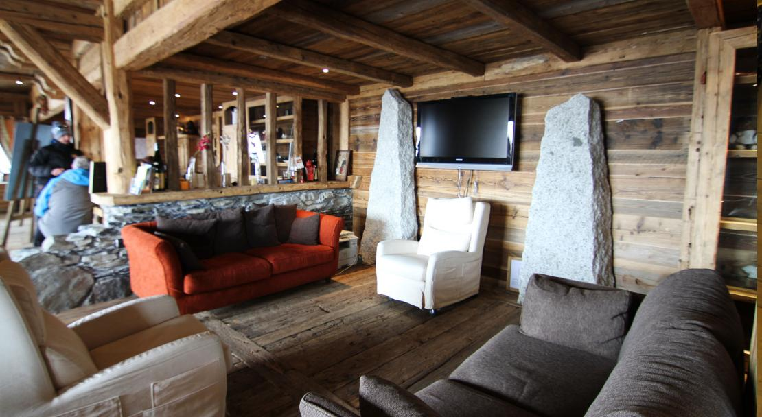 A communal sitting area at the Ferme du Val Claret