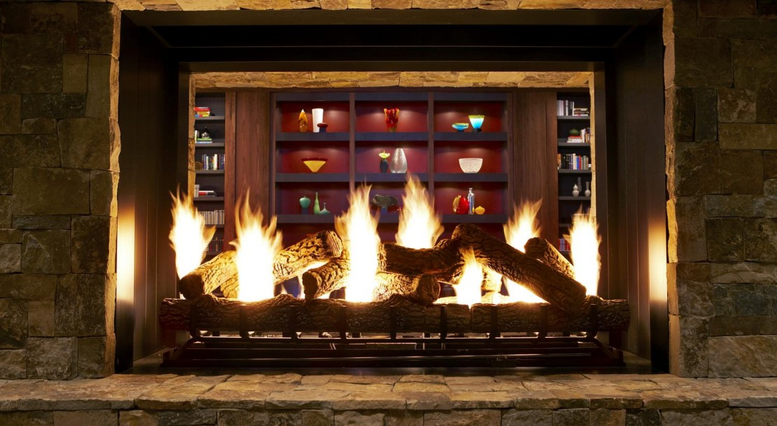 Open fireplaces and comfortable furnishings are in abundance at the Westin Riverfront Resort & Spa