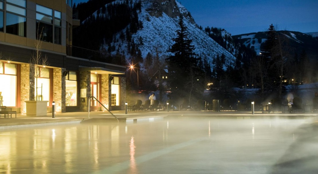 Steamy outdoor pool for a winter dip at the Westin Riverfront Resort & Spa