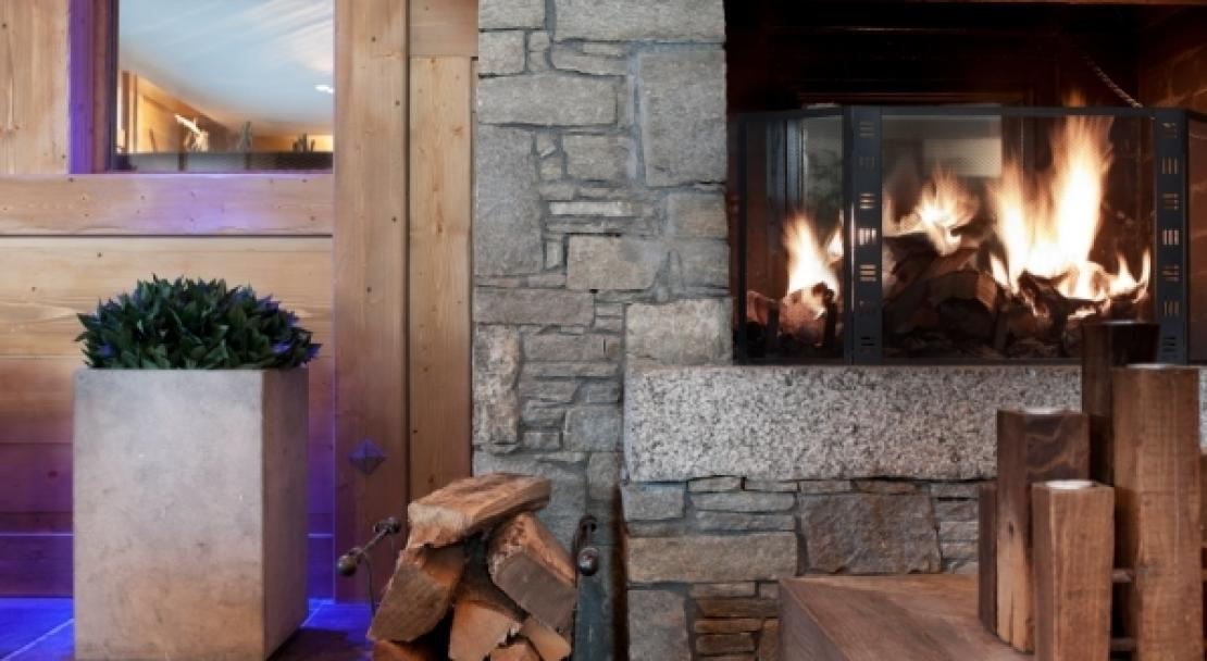 An example of what the fire might look like in L'Oree des Neiges, Vallandry, France